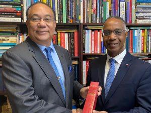 UWI Pro-Vice-Chancellor Richard-Bernal-with-Gervan-Fearon